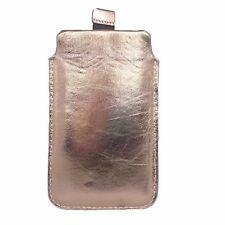 Funda Cuero Auténtico Oro Bolso De Cubierta Protectora Para iPhone x 6S 7 8