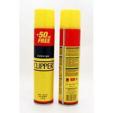GAS BUTANO CLIPPER PER RICAMBIO RICARICA ACCENDINI LIGHTER BUTANE 250+50 ML