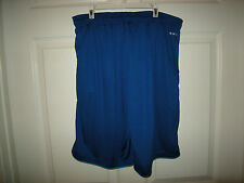 Brand New Mens Two Tone Blue Adidas Climalite Shorts, Size S