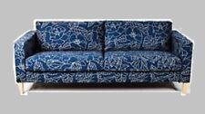 IKEA Karlstad Sofabed Sleeper Sofa NEW Bladaker Blue Botanical Navy Beige Cover