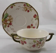Villeroy & and Boch PORTOBELLO handled soup bowl / coupe and saucer