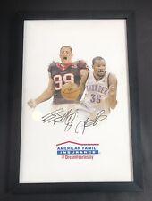 Kevin Durant & JJ Watt 12x18 American Family Insurance Promo Signed Photo