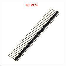 10pcs 2.54mm 1X40 1*40 Pin Single Row Male Right Angle Header Socket Strip 17MM
