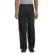 """Unisex Cargo Chef Pant 2"""" Elastic Waist Black Medium Nwt"""