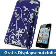 Lila Hard Case für Apple iPod Touch 4te Gen 4G Tasche Hülle Etui Schmetterling