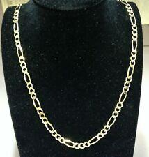 c3cdefd84d46 14kt oro amarillo macizo cadena Fígaro Bordillo Enlace Collar 26