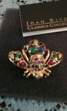 Joan Rivers Bee Pin Black Enamel Holiday Lights Cute Bee-New in Box Christmas