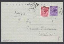 STORIA POSTALE REPUBBLICA 1958 Biglietto 25L da Firenze per Svezia (E7)