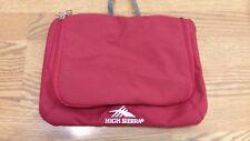 High Sierra Bag Pouch Toiletry Organizer Travel Handbag Red Full Zipper LN