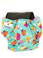 Hananee Baby Cloth Diapers with Bamboo Charcoal Insert All-In-One Nappy Cakes