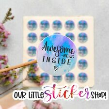 120 AWESOME-NESS INSIDE CUTE MAIL PACKAGE BUSINESS STICKERS LABELS THANK YOU