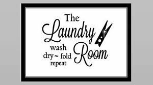 Laundry Room Sign PHOTO B&W HOME WALL DECOR Wash Clothes 5x7 Pic
