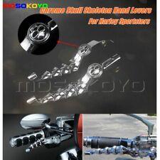Chrome Skull Hand Levers Clutch Brake Lever For Harley Sportster Iron 883 XL1200