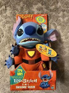 "NEW Disney Lilo & Stitch 2-IN-1 Switchin' Stitch Talking 10"" Plush Rare"