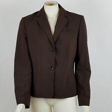 Ann Taylor Women's Size 10 Career Blazer Jacket Wool Blend Brown Lined
