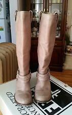 FRYE Carmen Harness Tall Gray Western Boots 77846 Sz 7.5 B