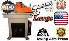 NEW 27-TON Swing Arm Clicker Press LARGE Signature Series 2017 from CJRTEC