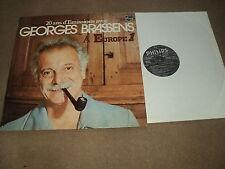 """@ GEORGES BRASSENS 33 TOURS LP 12 """" FRANCE EUROPE 1 *JACQUES BREL"""