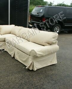 Pottery Barn Basic Sofa Sectional slipcover RIGHT ARM SOFA MAIZE TWILL FABRIC