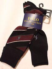 NWT Polo Ralph Lauren Men's Cotton Blend Casual/Dress Socks Size 6-12.5 2 pair