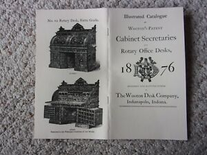 1876 WOOTON Cabinet Secretaries and Rotary Office Desks Catalog -- 24 pages
