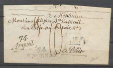 1830 Lettre marque linéaire et cursive 74/argeuil et 74/GOURNAY, RR, SUP X4096
