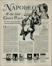1933Karo Syrup Napoleon Green Peach Vintage Print Ad 2976