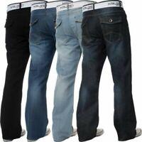 Kruze Uomo Bootcut Jeans Svasato Gamba Larga Pantaloni Grande Alto Re Tutti Vita