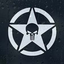 Army Military Star Punisher Skull Car Decal Vinyl Sticker For Bumper Window