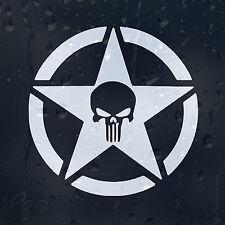 Army Military Star Punisher Skull Car Decal Vinyl Sticker For Bumper Window