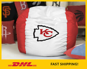 Kansas City CHIEFS Bean Bag Cover, NFL Football BeanBag Gift, (covers only)