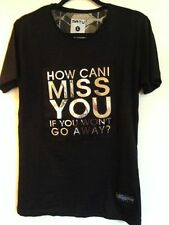 BLACK T SHIRT NUOVA, mai indossato taglia L (come posso MISS YOU)