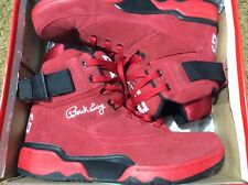 patrick ewing 33 high red suede used shoes