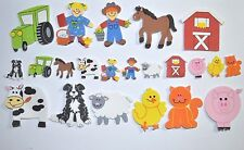 44 Asst Self Adhesive Farm Animal Foam Shapes 22mm-55mm NEW