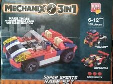 Lego - Block Tech Mechanix 3-in-1 Super Sports Race Set 165 Pieces