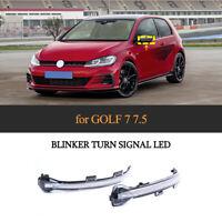 Paar LED Dynamische Spiegelblinker Laufblinker Spiegel Für VW Golf7/7.5 MK7/7.5