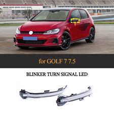 For VW Golf 7 MK7 Golf 7.5 MK7.5 Dynamic LED Turn Signal Mirror Light Yellow