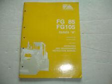 FiatAllis FA FG85 FG105 Factory OPERATION MAINTENANCE Shop Service Shop Manual