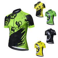 Coolmax Cycling Jersey Top Men's Reflective Bike Bicycle Jersey Shirts S-5XL