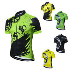 Coolmax Cycling Jersey Top Men's Reflective Bike Bicycle Jersey Shirts S-5XL