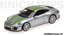 Minichamps 870066225- Porsche 911 R –2016 – Argent W / Vert Rayures