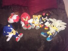 """OFFICIAL SONIC THE HEDGEHOG 8"""" FULL SET 6 x SOFT TOY PLUSH """"NEW RELEASE"""