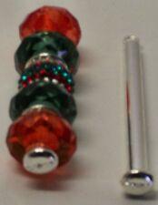 "4 bead pins for pendant, earrings, keychain european beads add a bead, 1 3/4"""