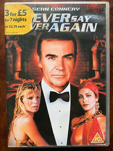 Never Say Never Again DVD 1983 James Bond Movie Classic in Acceptable Condition
