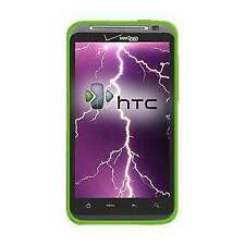 AMZER Silicone Soft Skin Jelly Case Cover For HTC ThunderBolt ADR6400 - Green