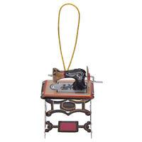 Vintage Iron Sewing Machine Ornament Xmas Party Hanging Decor Kids Gift Mini