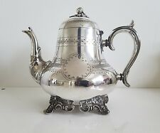 VINTAGE EVANS & MATTHEWS SILVERPLATED ACCORN TEA POT