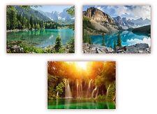 3 Stück XXL Poster 100 x 70cm - (Posterset-02) - drei verschiedene Natur-Motive