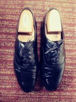 Brooks Brothers Black Leather Oxford Tuxedo Dress Shoes Size Euro 42. M01720