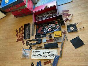 Vintage Early A.C. Gilbert Erector No. 7 1/2  Truck Set ? Parts Wooden Box